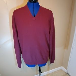 Club Room 100% Cashmere Maroon Sweater